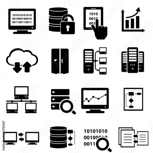 Fotografie, Obraz  Big data icon set