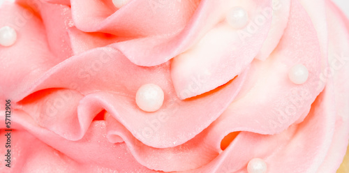 Photo  Pink buttercream Icing.