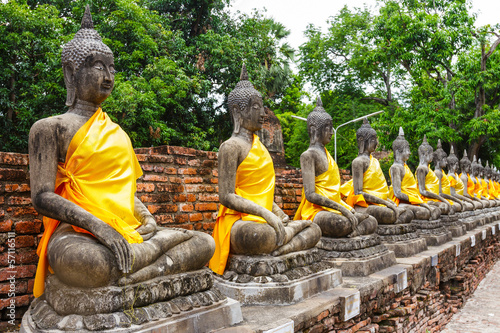 Ancient Buddha statue in temple