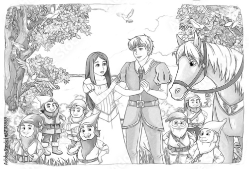 The sketch coloring page - artistic style fairy tale - 57118989