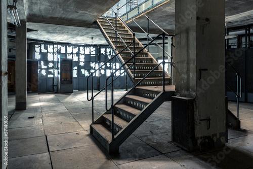 Staande foto Industrial geb. Industrial stairs of a building