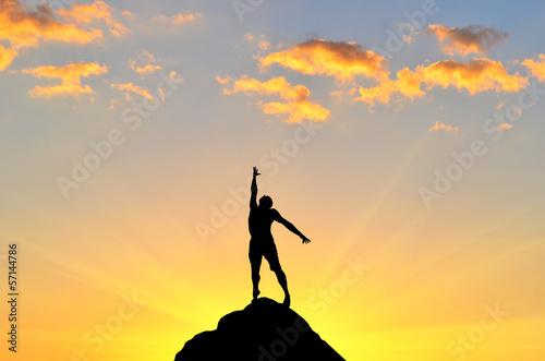 Foto op Aluminium Jacht man on top
