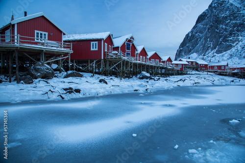 Staande foto Scandinavië lofoten island during winter time