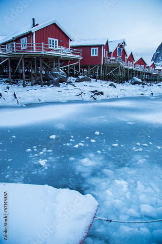 Foto op Aluminium Scandinavië lofoten island during winter time