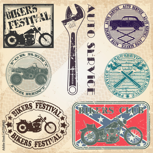 Plakaty motory   zestaw-znaczkow-z-motywami-motoryzacyjnymi