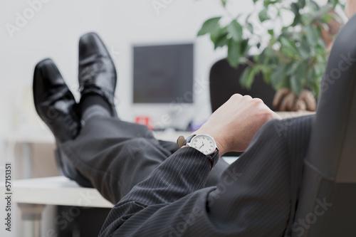 Obraz Lazy disrespectful businessman - fototapety do salonu