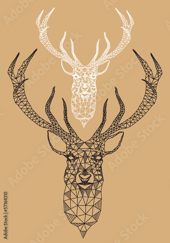 christmas-deer-with-geometric-pattern-vector