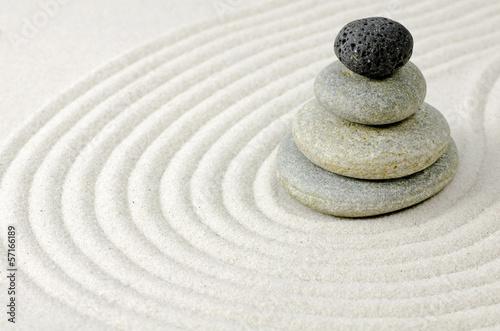 Acrylic Prints Stones in Sand Zengarten
