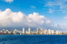 Honolulu City Skyline From Water