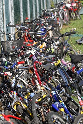 Deurstickers Amsterdam bicycles bicycles bicycles