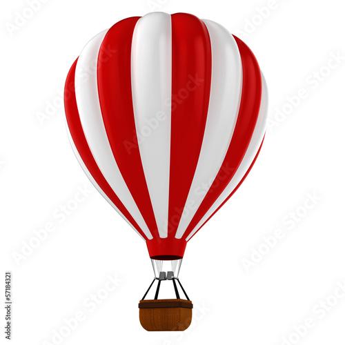 3d colorful hot air balloon Fototapet