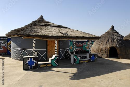 Spoed Foto op Canvas Zuid Afrika villaggio ndebele sudafrica