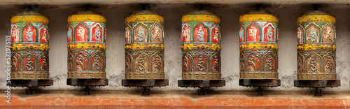 Valokuva  Pattern - Buddhist Meditation prayer wheel in Kathmandu, Swoyamb