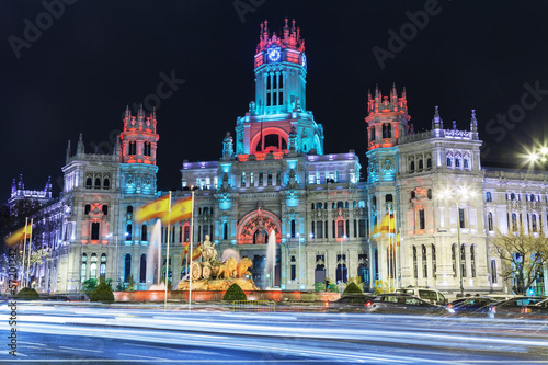 Keuken foto achterwand Madrid Cibeles square at Christmas, Madrid, Spain