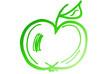 canvas print picture - grüner Apfel...
