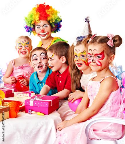 Photo  Child birthday party .