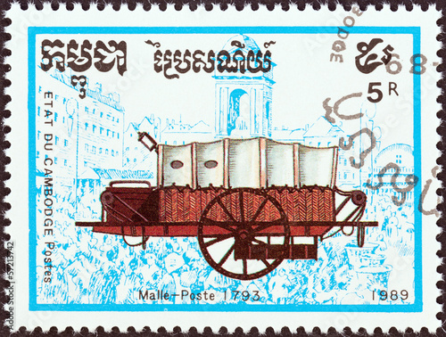 Tela  Mail coach of 1793 (Cambodia 1989)