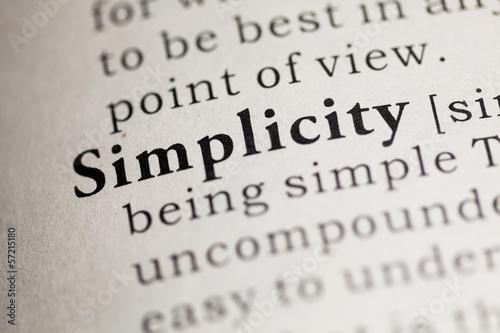 Obraz na plátně Simplicity
