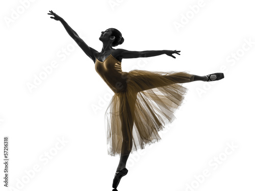 Photo  woman  ballerina ballet dancer dancing silhouette