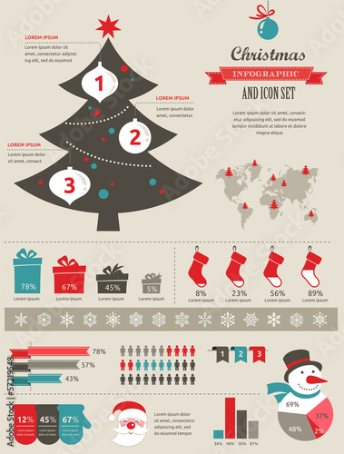 Photo  Christmas infographic
