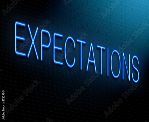 Valokuva Expectations concept.