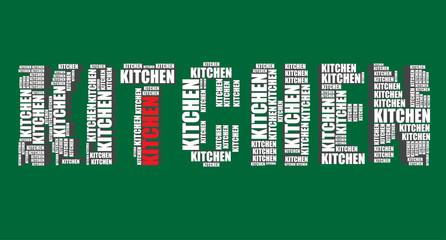 kitchen typography 3d text word art vector kitchen illustration