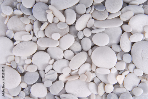 white pebbles stones background Wallpaper Mural