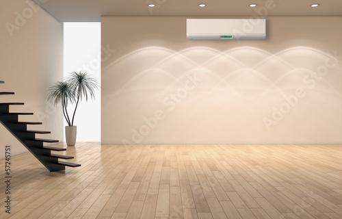 Obraz Interno con aria climatizzata - fototapety do salonu