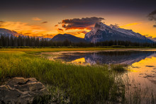 Vermilion Lakes Sunrise Near B...