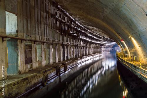 Photo  Underground Tunnel with Water.