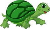 Fototapeta Fototapety na ścianę do pokoju dziecięcego - Cute turtle cartoon