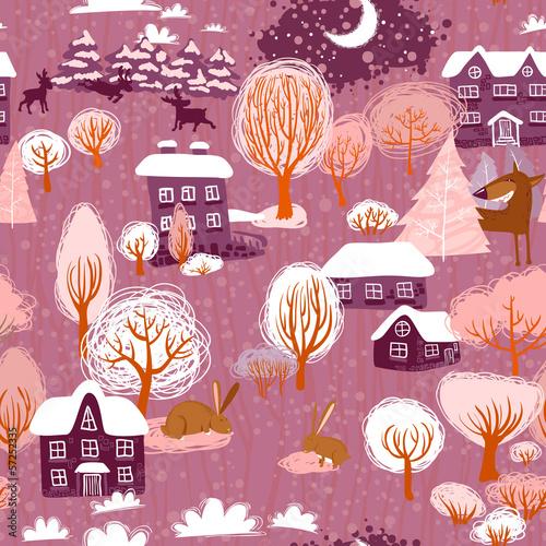 Stoffe zum Nähen Nahtlose Winter
