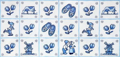 Blue Delft Landmarks of Holland