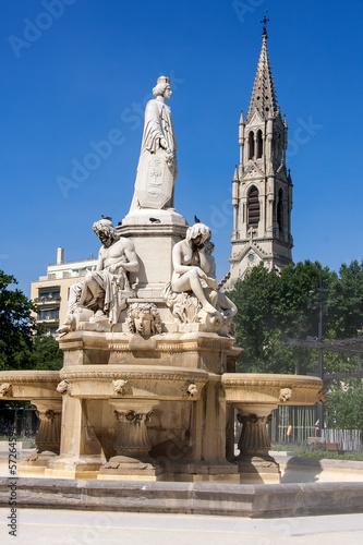 Fotobehang Fontaine Fountain of nimes