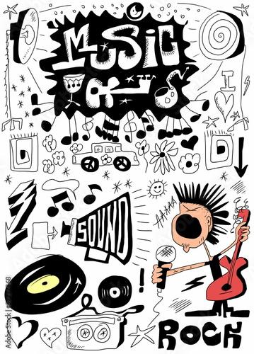 doodle-muzyka-recznie-rysowane-elementy-projektu