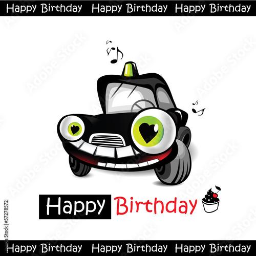 Happy Birthday Car Smile