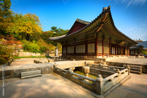 Park of Changgyeonggung Palace, Seoul, South Korea. Poster