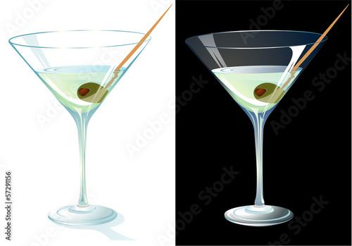 Fotografía  Martini. Vector.