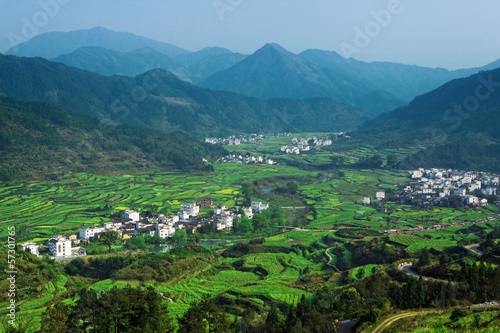 Printed kitchen splashbacks River Rural landscape in wuyuan county, jiangxi province, china.
