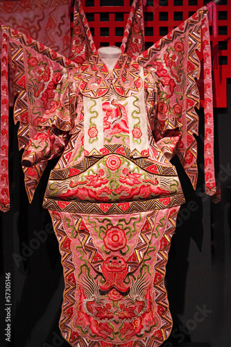 Stickers pour porte Delhi chinese opera cloth