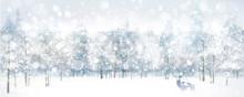 Vector Of Winter Scene With De...