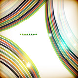 Colorful swirl lines abstract background