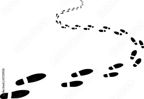 Fotografia, Obraz  receding footprints