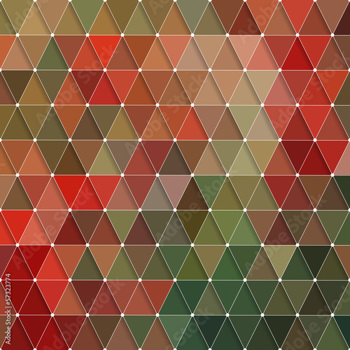 Spoed Foto op Canvas ZigZag Triangles Pattern