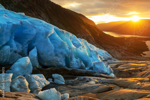 Printed kitchen splashbacks Glaciers Glacier in Norway