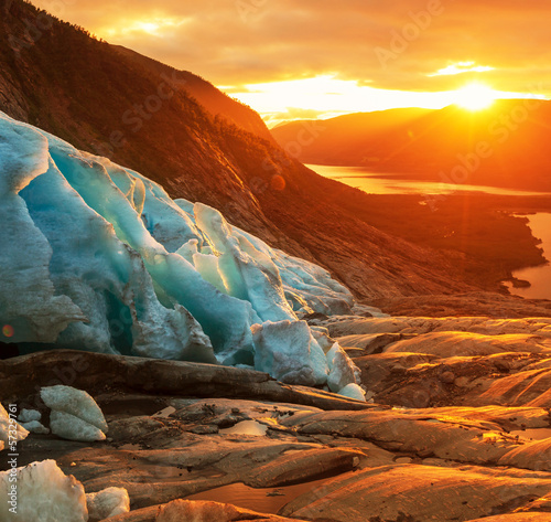 Poster Glaciers Glacier in Norway