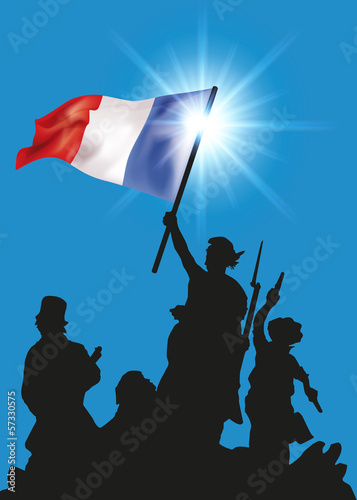 LA REPUBLIQUE Fototapet