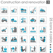 Construction and renovation icons 3