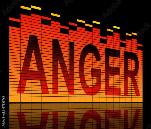 Anger concept. Wallpaper Mural