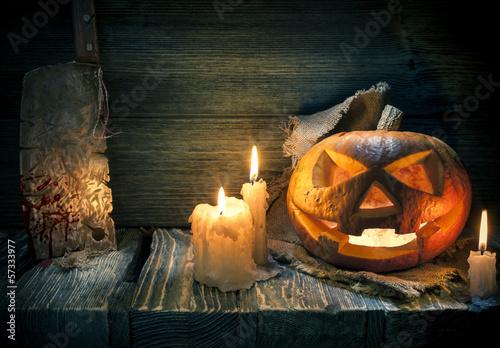 Scarved jack-o-lantern